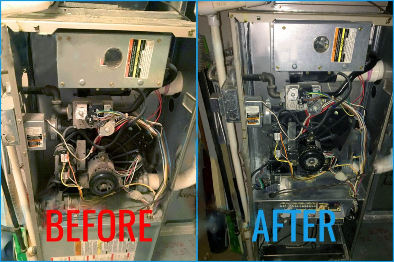 furnace cleaning process